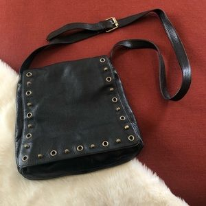 Hobo international studded leather crossbody purse